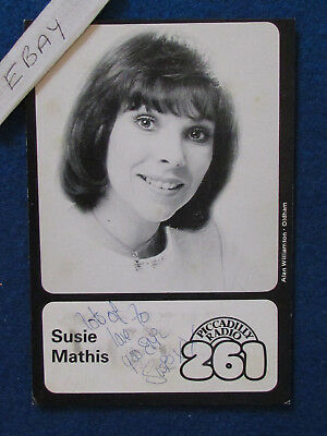 "HAND SIGNED - Susie Mathis - 6""x4"" - Press Promo Photo Card - 1982"