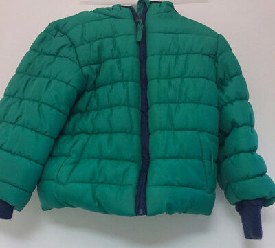 Mothercare Coat Jacket Padded Green Boys Kids 18-24 Months Baby Warm Winter