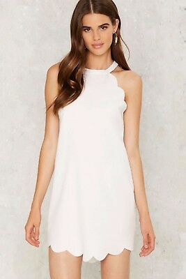 5f30a1395a33 Nasty Gal First Love Women's Above The Curve Halter Dress in White - Size  Small