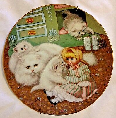 Hamilton Collection Vintage Country Kitties plate Captive Audience 1988 Gerardi