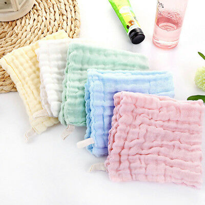 5Pcs Organic Cotton Baby Wipes Soft Newborn Baby Face Towels Muslin Washcloths