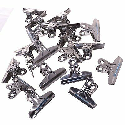 BCP 20pcs Silver Color Metal Bulldog/Hinge Paper Clip for Office and School
