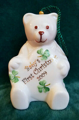 Belleek 2009 Baby's First Christmas Bell Ornament - New in Box