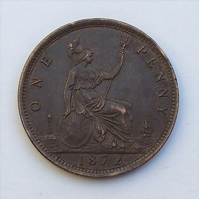 1872 UK (Great Britain) Penny