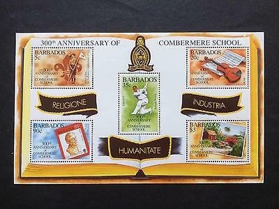 BARBADOS - 1995 - 300th Anniv of Combermere School - Minisheet - UMM