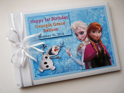 Personalised Frozen / Elsa/girls /first/1St Birthday Guest Book Any Design