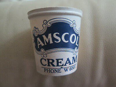 AMSCOL CREAM POT MADE of HYGIENIC CARDBOARD in EXCELLENT USED CONDITION c1940s