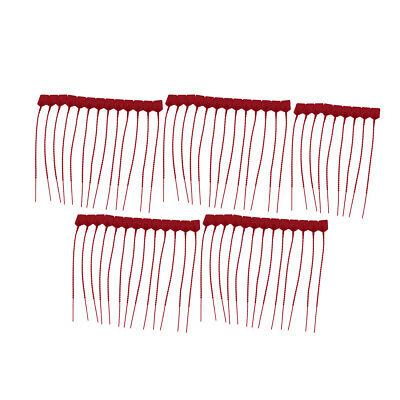 100Pcs 230mm Length Self-Locking Nylon Labels Cable Tie Zip Red