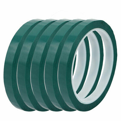 10mm Width 50M Length Single-side Electrical Insulated Adhesive Tape Green 5pcs