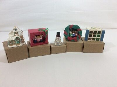 Avon Gift Collection Lot Of 5 Light-up Christmas Ornaments NIB & Ships Free