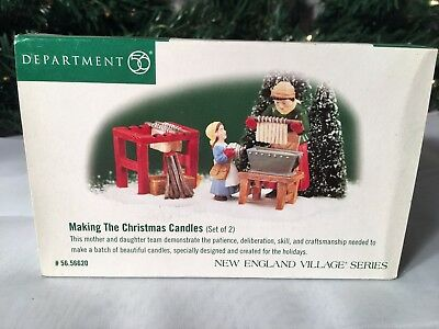 New Department 56 New England Village Series Making The Christmas Candles #56620