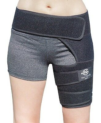 Hamstring Brace Support Sport Groin Hip Belt Upper Leg Sleeve Muscle Pain Relief