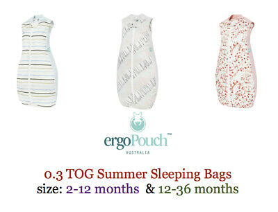 ErgoPouch Organic Cotton Sleeping Bag 0.3 TOG Summer Light Zip