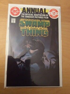 Swamp Thing Annual 1, Nm (9.2 - 9.4), 1St Print, 1982, Official Adaptation