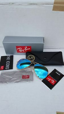 Ray Ban Aviator RB 3025 112/17 58-14 Blue Mirror