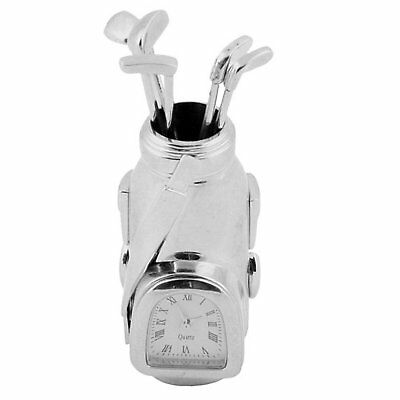 Miniature Golf Bag Novelty Quartz Movement Collectors Clock 9366S