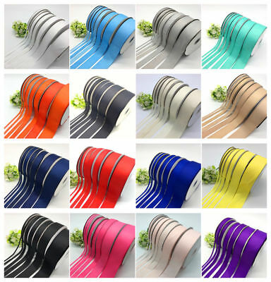 6mm 10mm 15mm 20mm 25mm 38mm 50mm 5yards Grosgrain Ribbon Hair Bow DIY Sewing