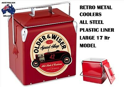 New Metal Retro Coke Cooler Vintage Older Wiser Hot Rod 32 Ford