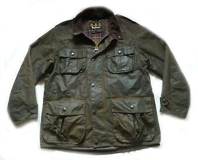 "Superb Barbour "" Trooper "" Military Waxed Style Jacket  - Large -  Quality £225"