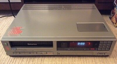 Sony Sl-C35As Betamax Pal Vcr (1983) + 72 Beta Video Tapes