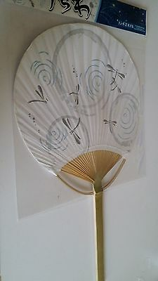Uchiwa Japanese Round Fan Drangon fly