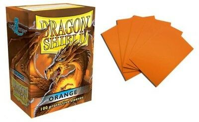 Dragon Shield - Orange 100 Protective Sleeves Cases Standard Card Holder