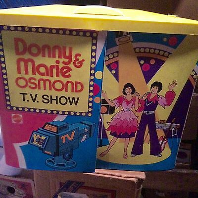 Vintage DONNY and MARIE Osmond Mattel TV Show Playset with Accessories and Dolls