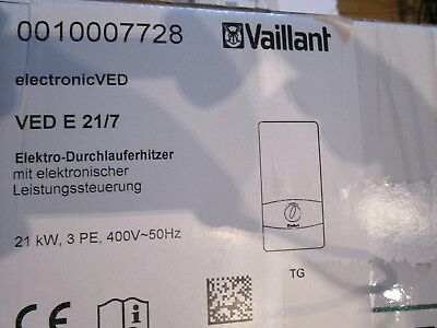 vaillant ved e 21 7 electronic ved 0010007728 el durchlauferhitzer neu elektro picclick de. Black Bedroom Furniture Sets. Home Design Ideas