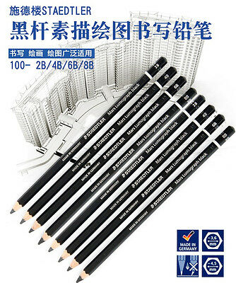 New Black Barrel Staedtler Mars Lumograph black 100B Aritsts Pencils 2B/4B/6B/8B