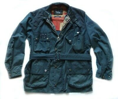 "Very Rare Barbour Steve Mcqueen "" Vin Wax  "" Motorcycle Jacket  - Large - £225"