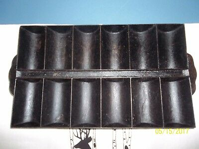 Antique, Vintage Cast Iron French Roll Pan, Unmarked, NO chips or cracks