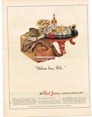 1943 Paul Jones Whiskey mid-century retro furniture Vtg. Print Ad