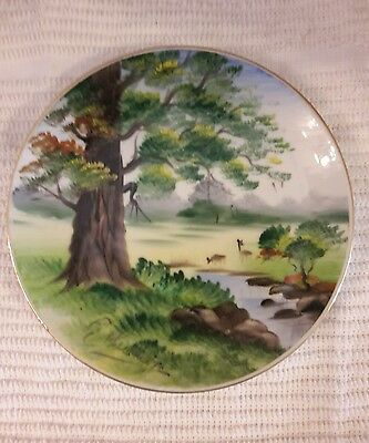 "Decorative Collector Plate Artist Signed 6""  Hand Painted Ucagco Japan Vtg"