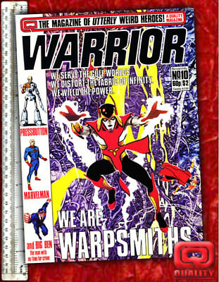 Warrior Magazine #10 with V for Vendetta, Warpsmiths & Marvelman by Alan Moore