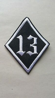 #13 PATCH MC or PUNK EMBROIDERED SEW ON Cut-Edge PATCH