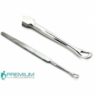 EAR WAX REMOVER  EAR CLEANER  STAINLESS STEEL  14 cm REUSABLE