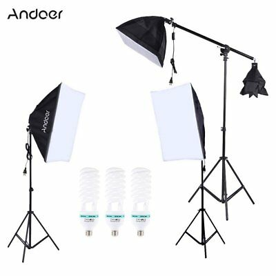 Andoer Photography Photo Lighting Kit Set with 5500K 135W Daylight Studio Bulb