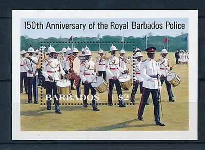 [21837] Barbados 1985 Royal Police Souvenir SheetMNH
