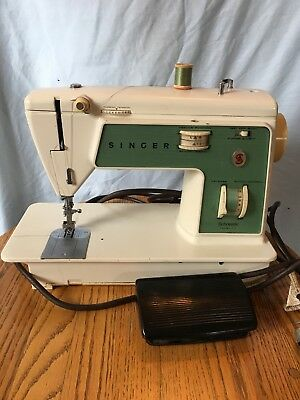 SINGER SEWING MACHINE MODEL 717 FREE ARM HEAVY DUTY - Denim - Upholstery