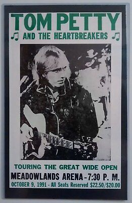 Tom Petty and the Heartbreakers Poster Matted in Crystal Clear Laminate