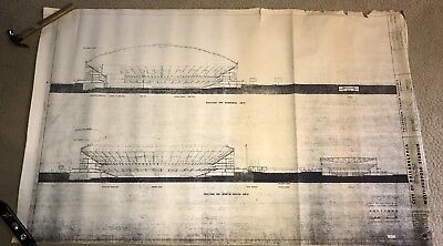 Veterans Stadium Blueprint - Philadelphia Eagles -Philadelphia Phillies