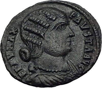 FAUSTA wife of CONSTANTINE the GREAT 324AD Alexandria Ancient Roman Coin i65281
