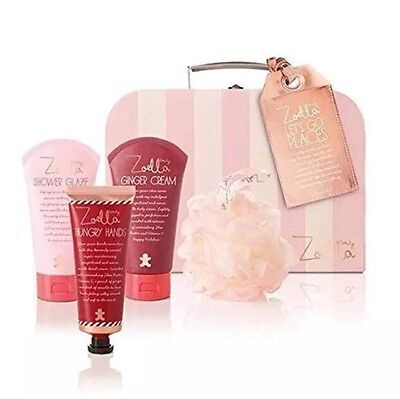 Zoella Let's Go Places Gift Set For Her Case  New Free  Zoella Lip Balm