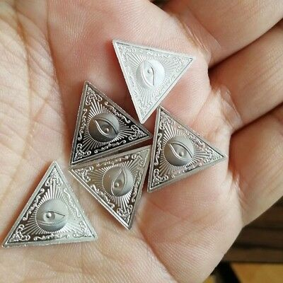 All-seeing eye 5 x 2 g Triangle .999 Fine Silver Bar Round Bullion /   YXA006