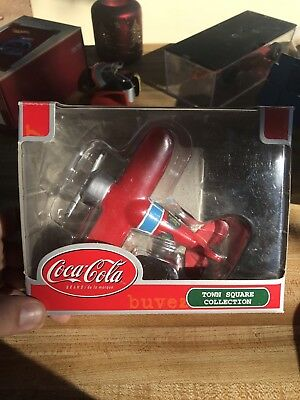 Coca Cola Christmas Ornament Red White Airplane Town Square Collection