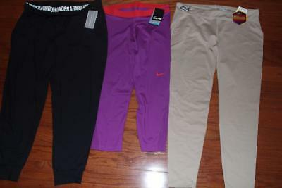 Lot Under Armour Womens Pants Nike Pro Capris Ua Studio Tactical Infrared Xl Nwt