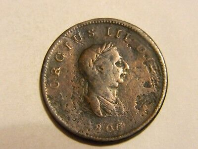 1806 Great Britain Half Penny 1/2 --- Lot #833