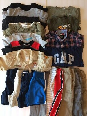 18 months Boys 21-piece Lot - Shirts, Pants, Shorts - Gap, Tommy Hilfiger, etc.