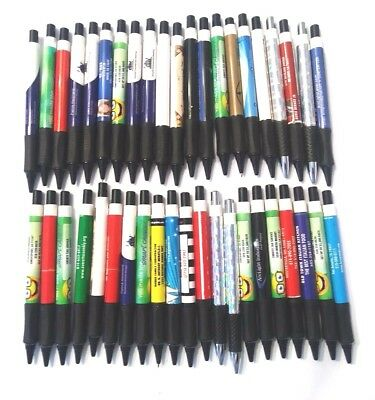 150 Thick Misprint Ink Pens Ball Point Plastic Retractable Pens Mixed