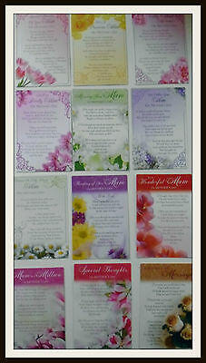 Mothers Day Graveside Bereavement Memorial Cards,Lovely words for much loved Mum